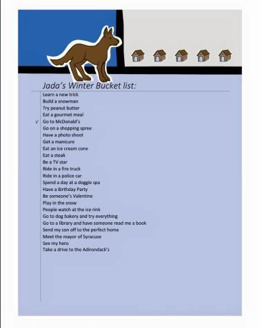 Jada's winter bucket list